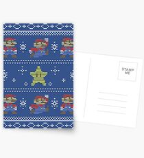 Mario Christmas Sweater Postcards