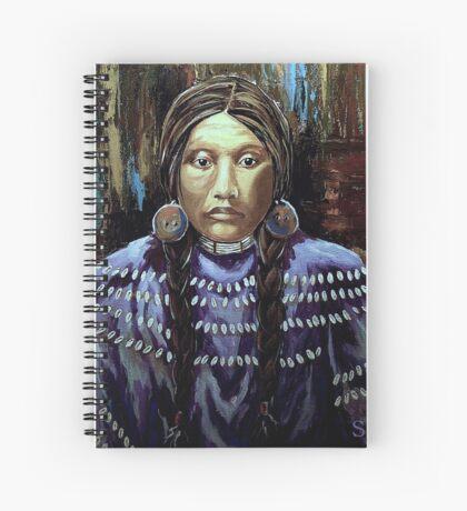 """Purple Dress With Shells"" Spiral Notebook"