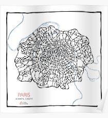 Fleur de Paris (blue) Poster