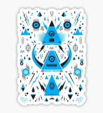 Triangle Alien Transformer Attack  Sticker