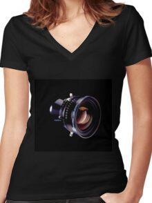 Lens  Women's Fitted V-Neck T-Shirt
