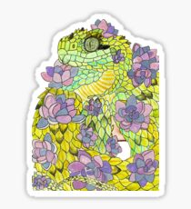 Hairy Bush Viper with Succulents Sticker