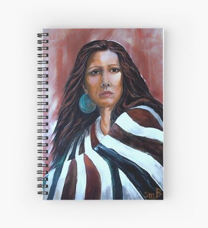 """""""Wrapped In Tradition, Naomi"""" Spiral Notebook"""