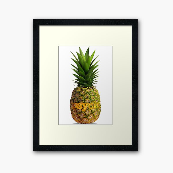 Psych Pineapple Framed Art Print