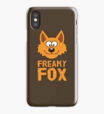 Funny cute Freaky Fox iPhone Case