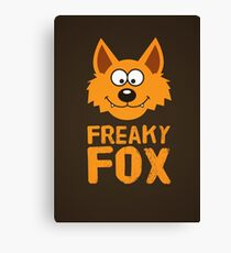Funny cute Freaky Fox Canvas Print