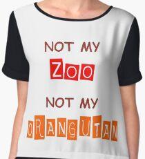 Not My Orangutan Women's Chiffon Top