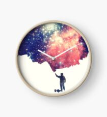 Painting the universe (Colorful Negative Space Art) Clock