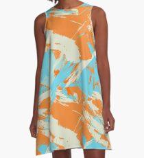 Miami Vice Dolphin Orange Crush A-Line Dress