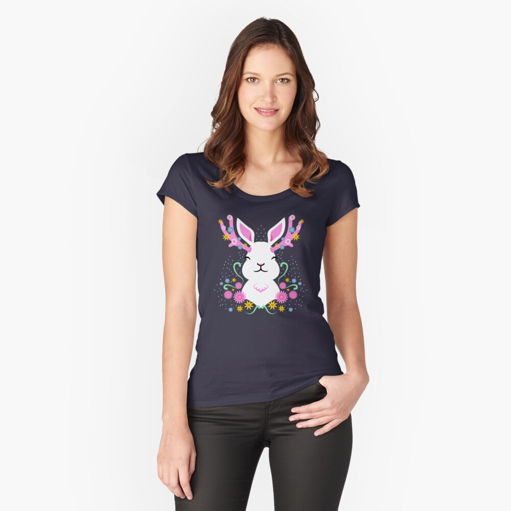 Jackalope Women's Fitted Scoop T-Shirt Front