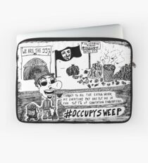 Occupy Sweep editorial cartoon Laptop Sleeve