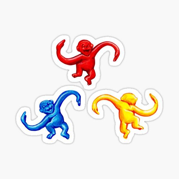 Barrel of Monkeys Pattern Sticker