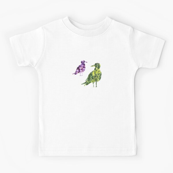 Floral flight patchwork birds Kids T-Shirt