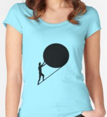 Sisyphus, the king of Ephyra Women's Fitted Scoop T-Shirt