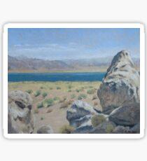 Pyramid Lake Plein Air Study Sticker