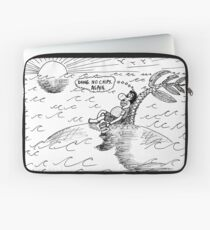 Occupy Solitude editorial cartoon Laptop Sleeve