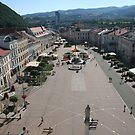 Banska Bystrica town square from above by Ilan Cohen