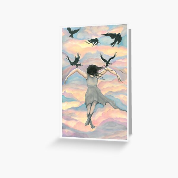 Birds Fly Over Greeting Card