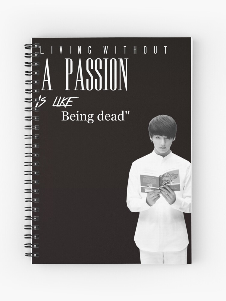 bts jungkook quote merch spiral notebook by designkpop redbubble