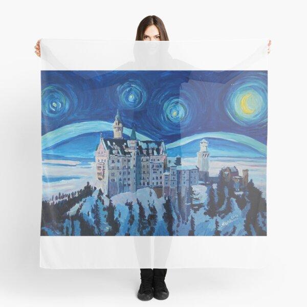 Sternen Nacht in Neuschwanstein - Romantisches Schloß Van Gogh inspiriert Scarf