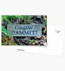 """Gardening Directions"" Postcards"