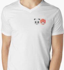 panda Red panda  Mens V-Neck T-Shirt
