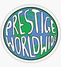 Prestige Worldwide logo - Step Brothers Movie Sticker