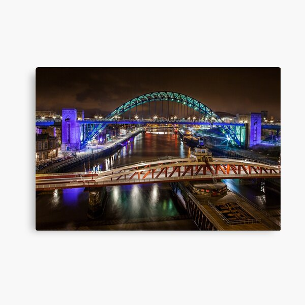 Tyne Bridges Canvas Print