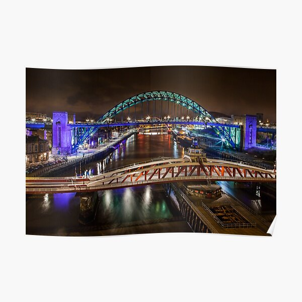 Tyne Bridges Poster