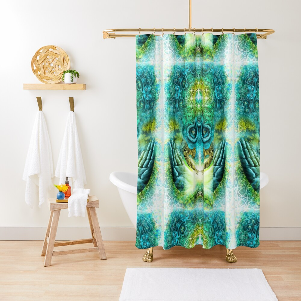 Transition to Butterfly Shower Curtain
