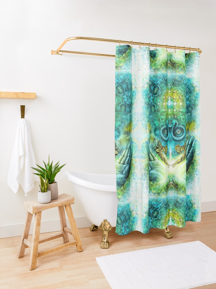 Alternate view of Transition to Butterfly Shower Curtain