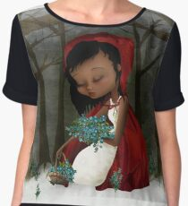 Red Riding Hood Women's Chiffon Top