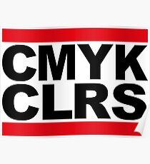 run dmc cmyk colours Poster