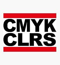 run dmc cmyk colours Photographic Print