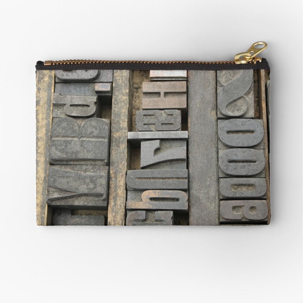 Letterpress, Brooklyn Flea Market Zipper Pouch
