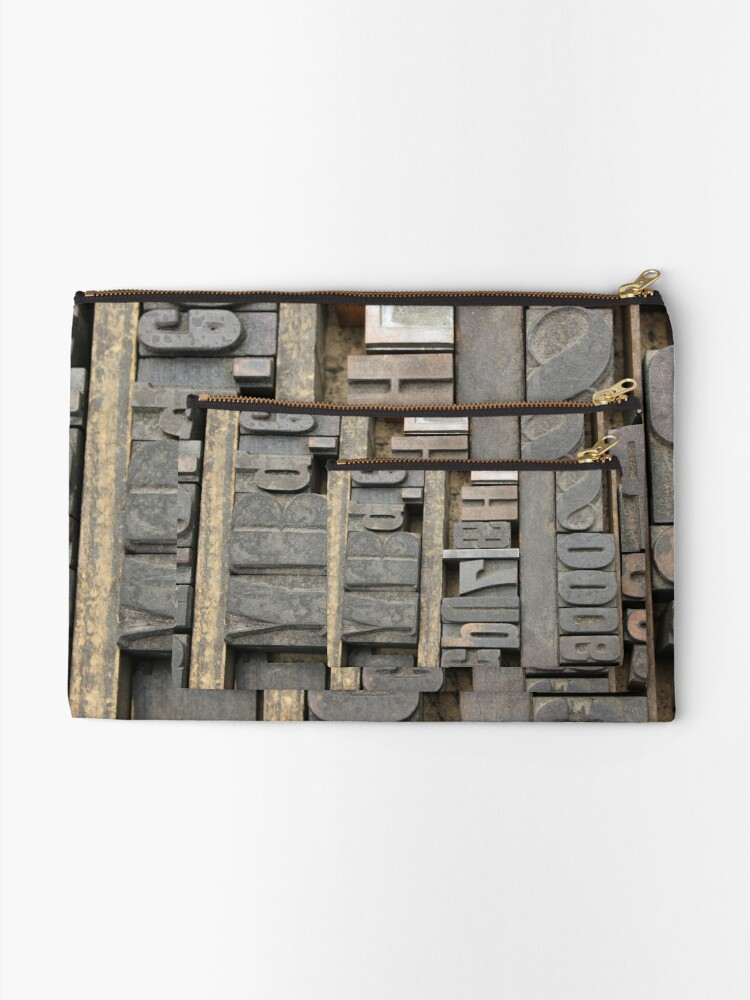 Alternate view of Letterpress, Brooklyn Flea Market Zipper Pouch