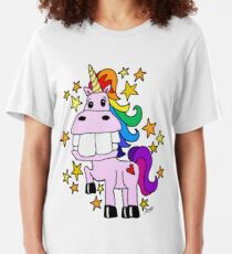 Magical Rainbow Unicorn Slim Fit T-Shirt