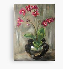 Orchid Oil Painting Canvas Print