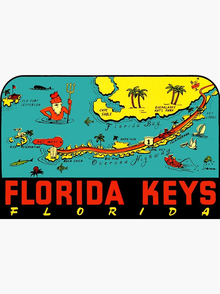 Florida Keys Vintage Travel Decal by hilda74
