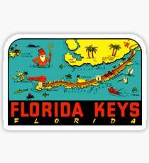 Pegatina Calcomanía de viaje vintage de los Cayos de Florida