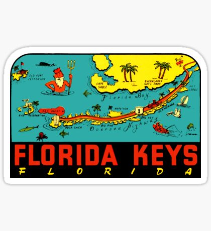 Florida Keys Vintage Travel Decal Sticker