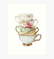 Vintage Tea Cups by Paris Lomé Art Print