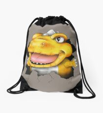 The jurassic pest Drawstring Bag