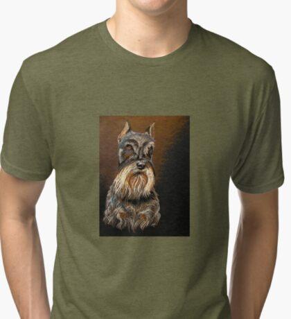 """Sir Schnauzer"" Tri-blend T-Shirt"