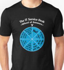Das IT-Service Desk-Rad der Antworten. Slim Fit T-Shirt