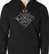 Minimal Thrones Zipped Hoodie