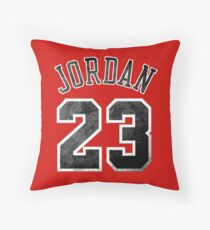 Jordan 23 Jersey Worn Throw Pillow