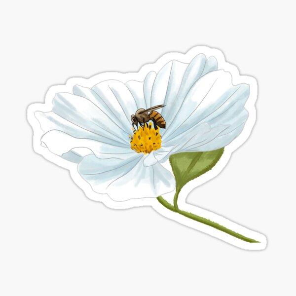 Bee on a Flower Sticker