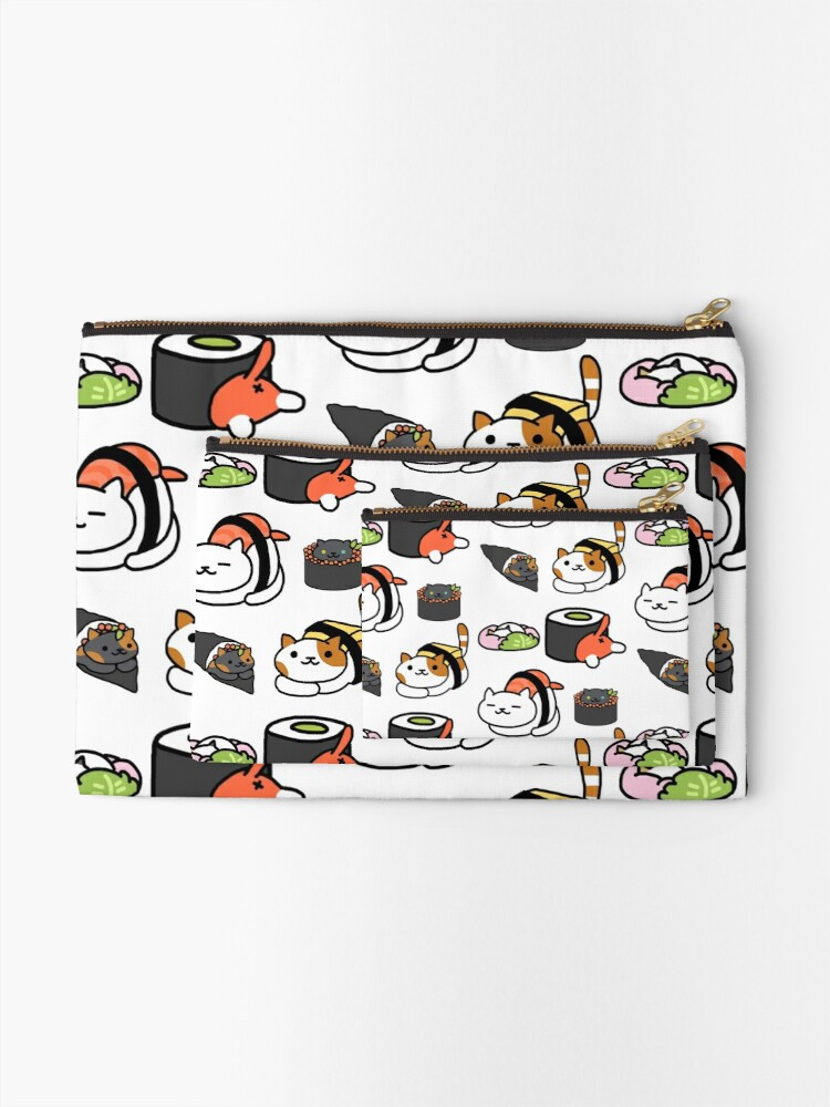 Alternate view of Neko Atsume Zipper Pouch