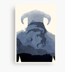 Skyrim II (No Text) Canvas Print